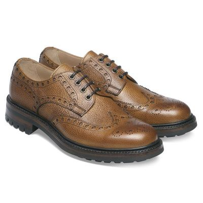 Joseph Cheaney Avon C Wingcap Country Brogue In Almond Grain Leather
