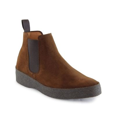 Sanders Adam Chelsea Boot in Polo Snuff Suede