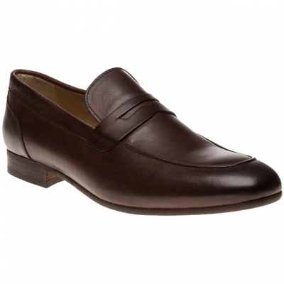 Hudson Reyes Slip-on Loafer in Brown Calf
