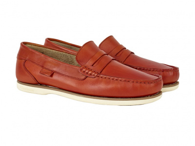 Chatham Faraday Loafer in Orange