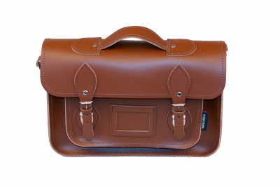 Zatchels Classic Chestnut Leather Briefcase Satchel 13