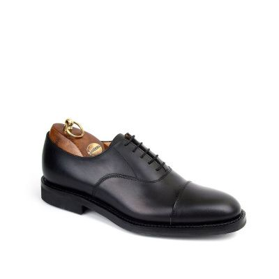 Sanders Helsinki Oxford Shoe in Black Cap