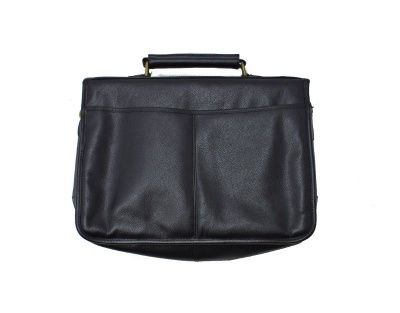 Barbour Leather Briefcase in Black