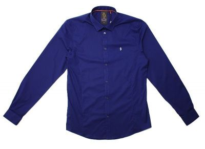 Luke Butchers Pencil Slim Shirt in Midnight