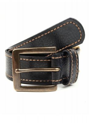 Dents Single Keeper Casual Leather Belt In Black