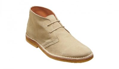 Barker Monty Derby Boot in Sand Suede