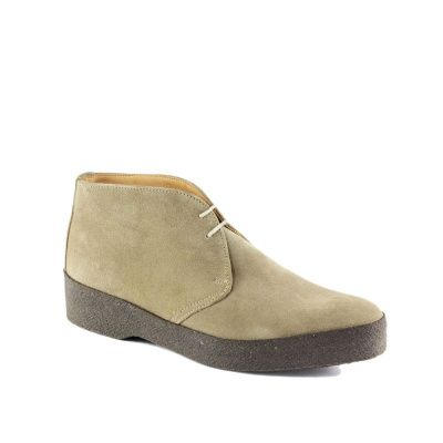 Sanders Hi-Top Chukka Boot in Dirty Buck Suede