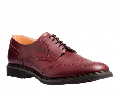 Solovair 5 Eye Gibson Brogue in Burgundy