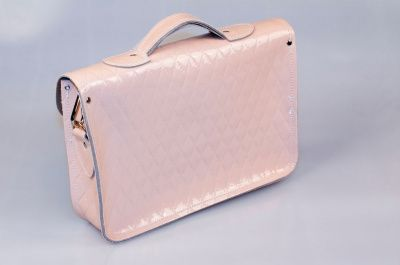 Zatchels Nude Quilted Leather Satchel 13