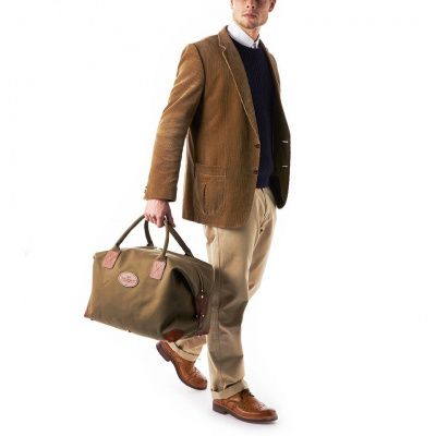 Chapman Medium Classic Holdall Bag in Olive