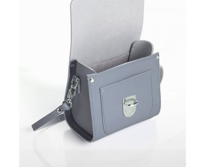 Zatchels Sugarcube Bag In Lilac Grey