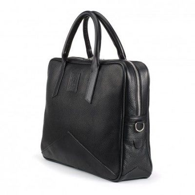 Tusting Langford Leather Briefcase In Black