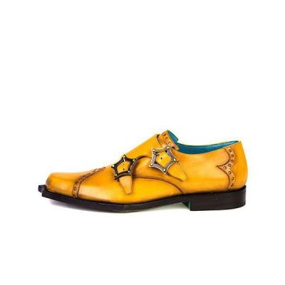 Twisk Volterra Monk Shoe in Brushed Yellow