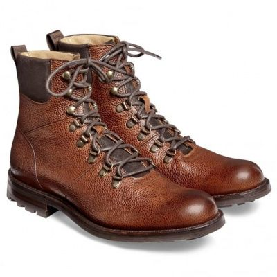 Cheaney Ingleborough B Hiker Leather Boot in Mahogany Grain