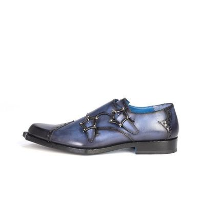 Twisk Volterra Monk Shoe in Brushed Marine Blue