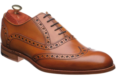 Barker Grant Brogue in Cedar Calf