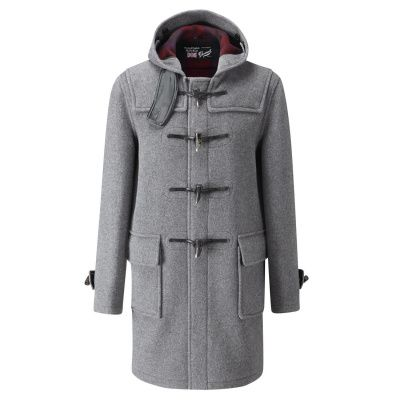 Gloverall Morris Duffle Coat in Grey
