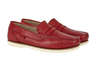 Chatham Faraday Loafer Shoes in Red