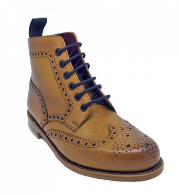 Loake Ladies Anne Brogue Boot in Tan