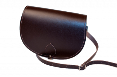 Zatchels Saddle Bag Classic in Dark Brown