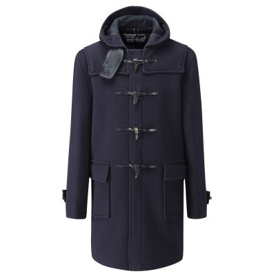 Gloverall Morris Duffle Coat in Navy