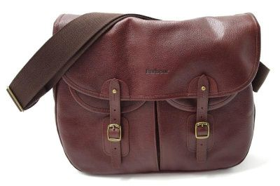 Barbour Leather Tarras Bag in Brown