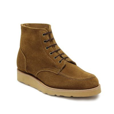 Sanders Wilson Derby Boot in Tobacco Suede
