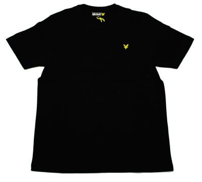 Lyle & Scott Vintage Crew Neck Jersey T-shirt in True Black