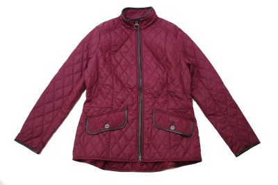 Barbour Stallion Quilted Jacket In Red