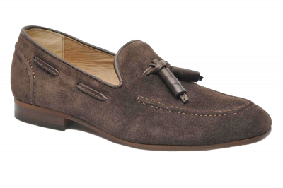 Hudson Pierre Suede Tassel Loafer in Brown