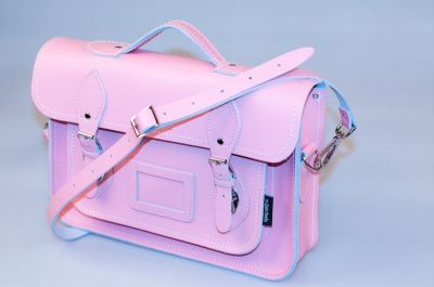 Zatchels Pastel Pink Leather Satchel 13