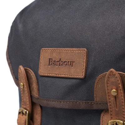 Barbour Rucksack Wax Leather In Navy