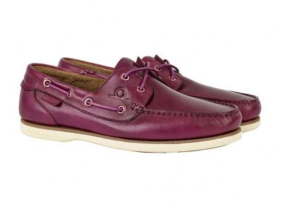 Chatham Newton Deck Shoes in Violet