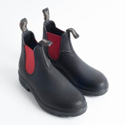 Blundstone 508 Chelsea Boots in Black/Red
