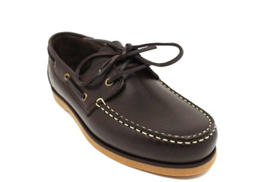 John White Brevitt Leather Boat Shoe in Brown